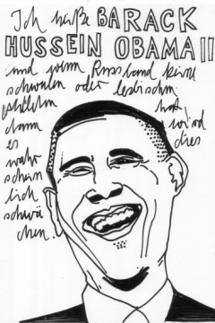 Illustration Obama Typografie Portrait