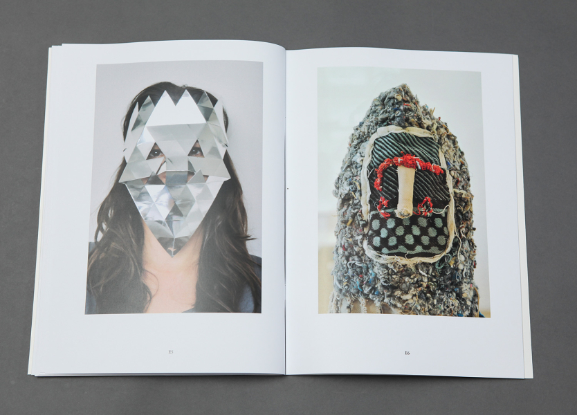 Textildesign Cloth Design Masks Masken Collection Catalog Typography Editorial