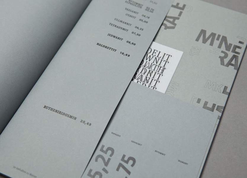Sammlung Collection Minerals Typography Editorial Design Book Study Research Studie Graphic Design